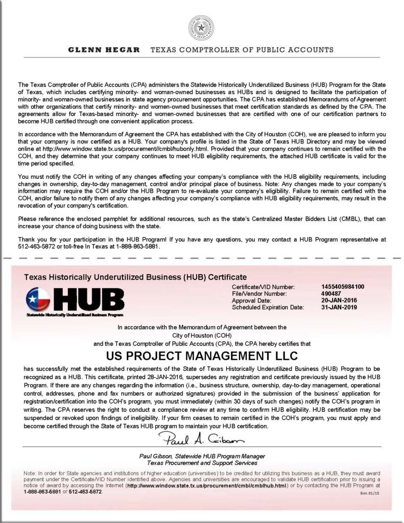 Licenses us project management hub certificatenew xflitez Choice Image
