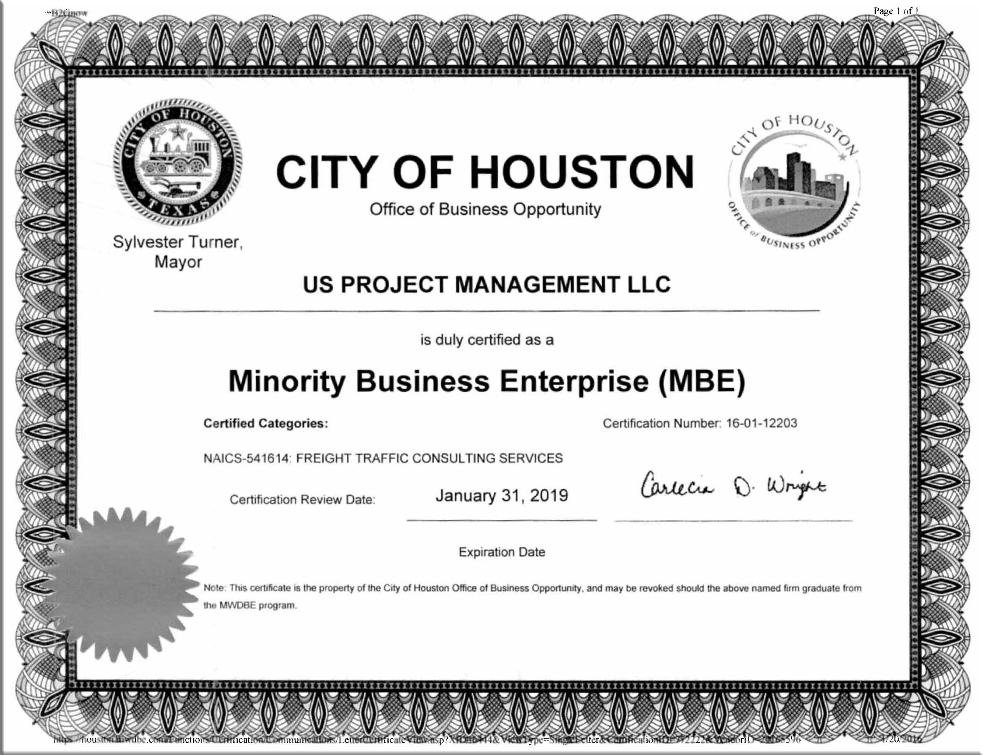Licenses us project management mbe certificate xflitez Gallery